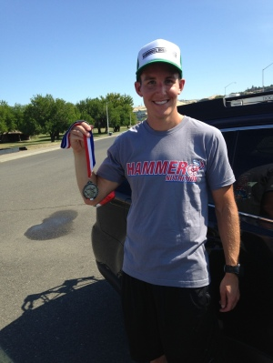 Post race with 2nd AG medal aluminum man 2014