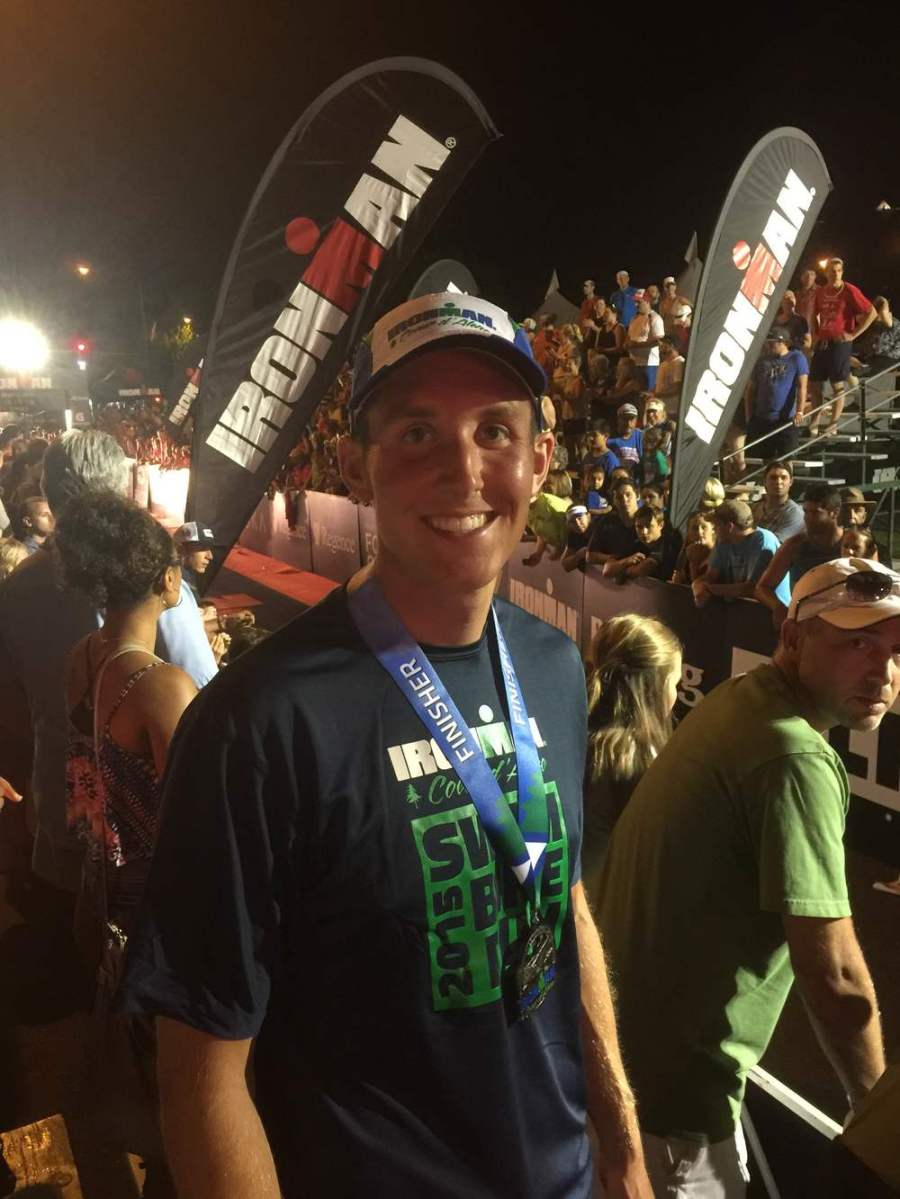 Enjoying the finish right before the final finishers came through! Always an incredible moment.
