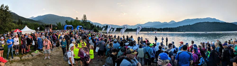 Amazing panoramic view of the race start. The energy was amazing! Photo Credit: Bill Anderson.